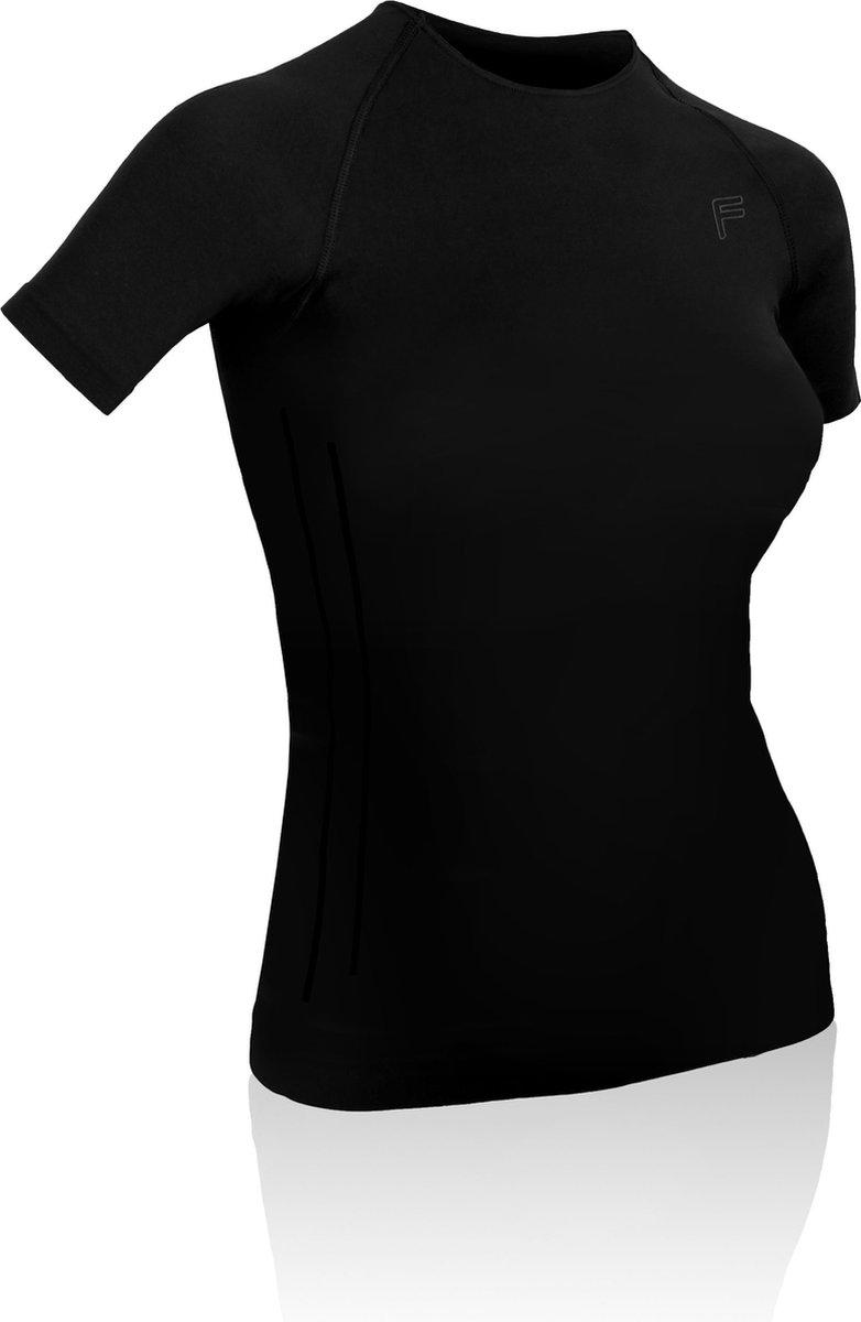 F-Lite | Ultralight 70 | zweetshirt L | Regulerende kleding | Thermokleding | Zwart | Onderkleding | Korte mouw | Fietsen | Hardlopen | Base layer | Onder shirt voor zomer | Dames