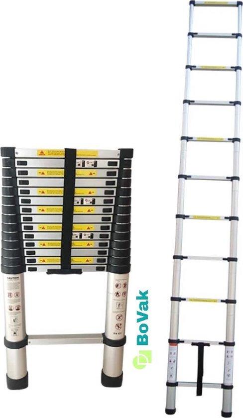 Bovak Telescoopladder 2.6m - Aluminium Telescopische ladder