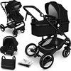 Sens Design Kinderwagen 3 in 1 - met luiertas - Zwart