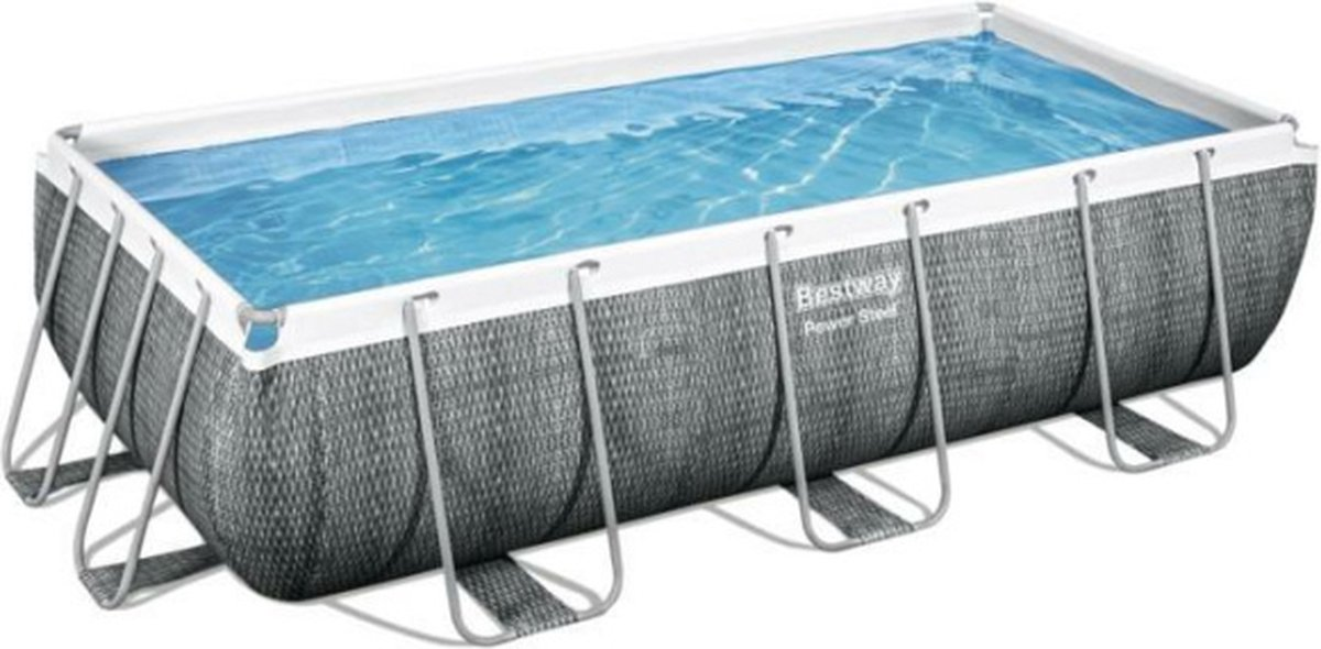 Bestway Power Steel - Zwembad - 404 x 201 x 100 cm - TriTech materiaal - Seal & Lock systeem