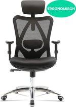 Ergotech® Ergonomische Bureaustoel voor Volwassenen – Kantoorstoel, Vergaderstoel & Gaming stoel – Bureaustoel met Wieltjes - Zwart