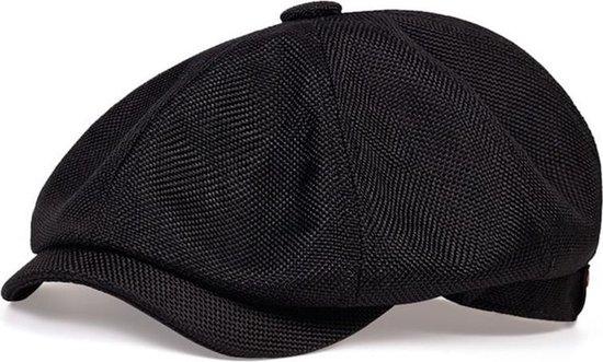 Peaky Blinders Cap - Flat Caps Heren - Heren Pet - Baret Heren - Heren Kleding - Tommy Shelby - Cadeau Man - Zwart - One Size