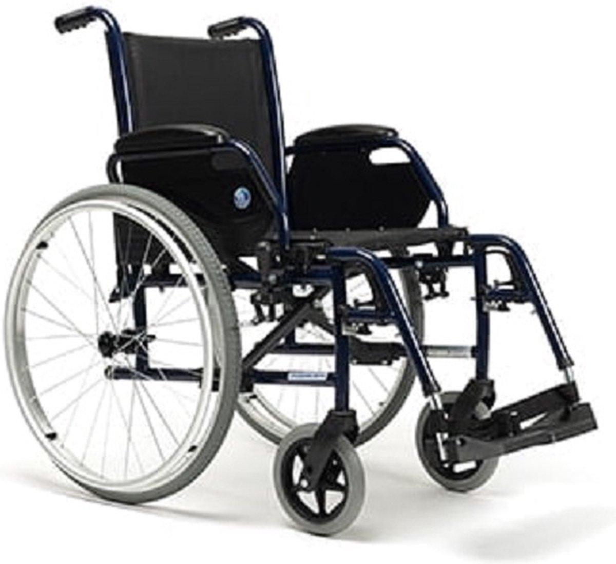 Lichtgewicht rolstoel Jazz S 50 massieve banden - 46 cm zitbreedte - Vermeiren.be