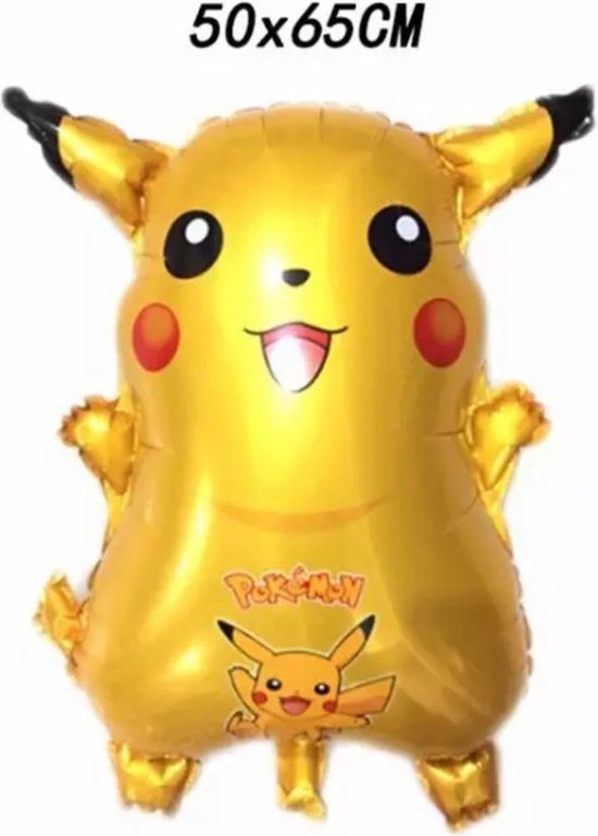 Pikachu Pokemon Folieballon  50 x 65 cm Pokemon Ballon - Ballon Groot - Ballon Film