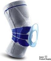 Knie Brace - Knie Ondersteuning – Grijs – L - Knie Band - Knee Sleeves – Sport support - Knie - Knie Bandage - Patella – Knee brace – Knee wraps - Knie Brace Dames - Knie Brace Heren – Unisex