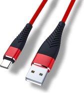 Cablebee oplaadkabel / USB kabel voor Nintendo Switch / Switch Lite rood - 1 meter