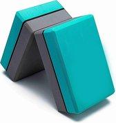 Swilix ® Premium Yoga Blok - Foam Yoga Blok - EVA Yogablok - 2 Stuks