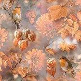 Ambiente Orange Autumn papieren servetten