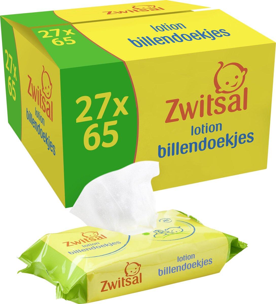 Zwitsal Lotion Billendoekjes - 1755 billendoekjes - Voordeelverpakking