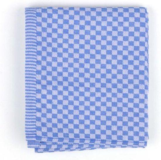 Bunzlau Castle Small Check Theedoek (6 Stuks) - 65x65 cm - Royal Blue