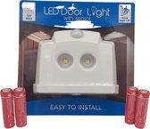 LED lamp met bewegingssensor inclusief batterijen - Buitendeur verlichting- Garageverlichting - oprit verlichting - Nachtverlichting - Thuiskom verlichting - Verlichting in de tuin - anti-diefstal verlichting