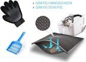 Grit Opvanger - Kattenbakmat - 40 x 50 - Zwart - Kattenbak - Cat Litter Mat - Gratis handschoen - Opvangzak