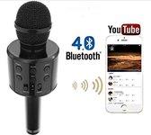 Karaoke Microfoon - Draadloos - Bluetooth Verbinding - Zwart - Voor de gezelligste feestjes