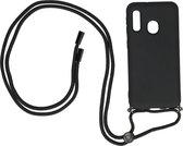 Samsung Galaxy A20e Backcase silicone met koord zwart