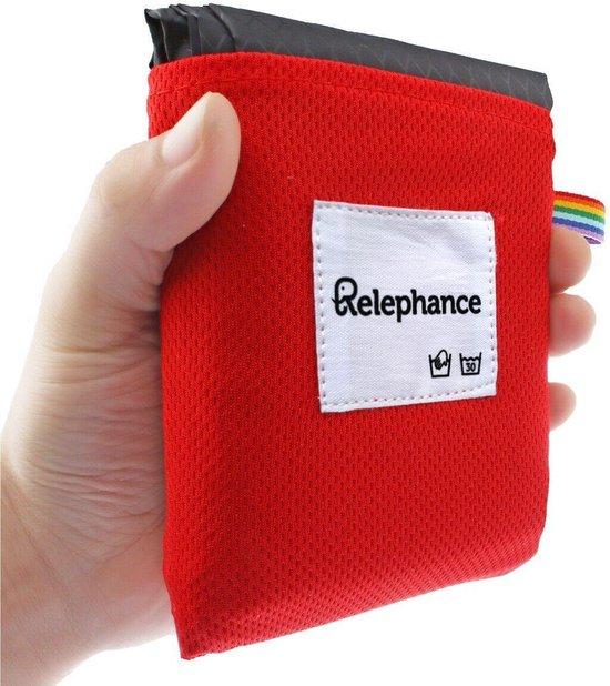 Relephance Picknickkleed – Opvouwbaar - 150x180cm - Rood/Zwart