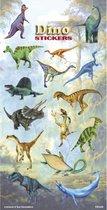 Stickervel dinosaurus kinder stickertjes