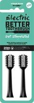 Opzetborstels Premium voor Electric Better Tootbrush - 2 stuks - zwart