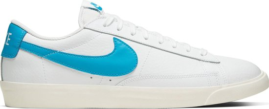 Nike Blazer Low Leather Heren Sneakers - White/Laser Blue-Sail - Maat 43