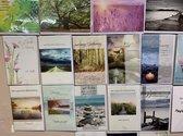 12 Condoleance wenskaarten - Oprechte Deelneming  - 11x16cm - dubbele kaarten met enveloppen