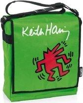 Luiertas Keith Haring groen, verzorgingstas babytas