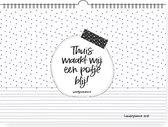 Familieplanner 2021 | zwart wit | weekplanner | winkeltjevananne.nl