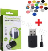 PREMIUM - Bluetooth PS4 Dongle + 4 Thumb Grips - Rood - Zwart - Blauw - Grijs - BT Adapter - Erg handig voor elke AIRPODS of welke BLUETOOTH Headset dan ook - Gratis Verzending