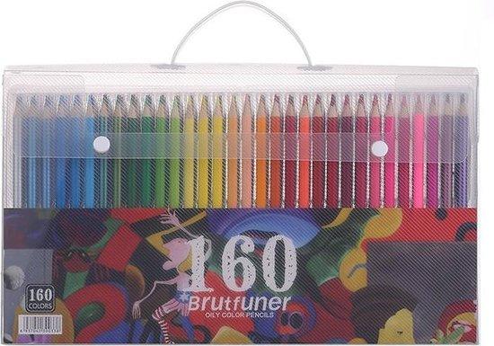 Afbeelding van Brutfuner olie kleurpotloden set 160st. + 4 kleurboeken