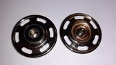 30 mm grote aannaaidrukker - drukknopen groot - drukker 3 cm - zilver metaal - 1 drukknoop