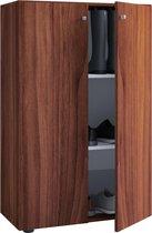 Kledingkast opbergkast Vandol Lonal Mini - kinderkamer - 110 cm hoog - donkerbruin
