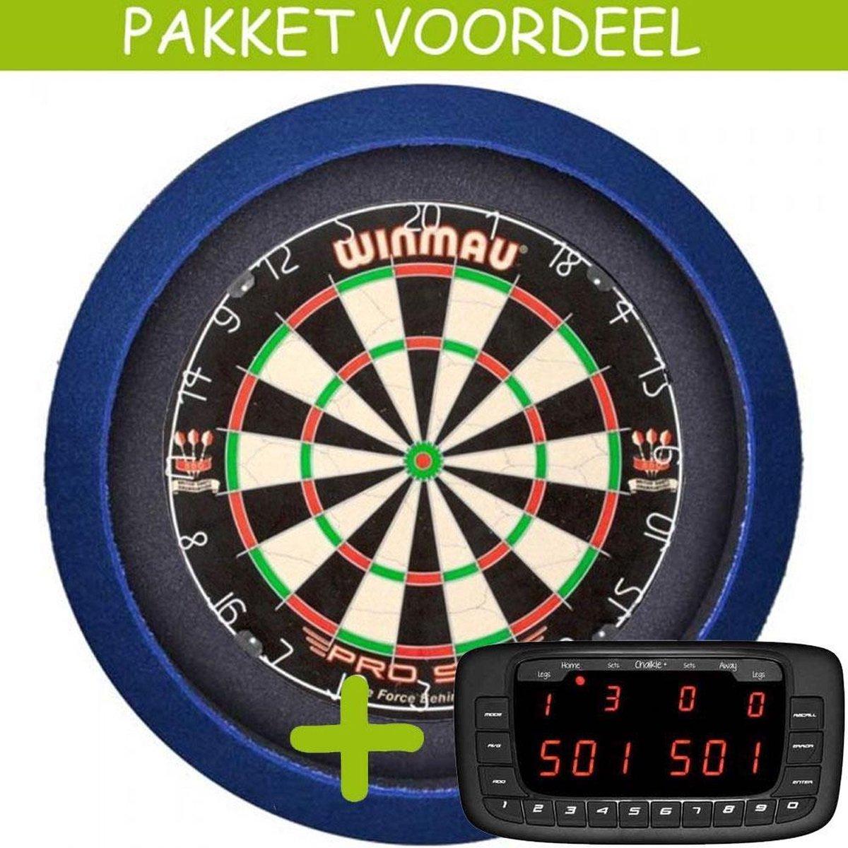 Elektronisch Dart Scorebord VoordeelPakket (Chalkie + ) - Pro SFB - Dartbordverlichting Basic (Blauw)