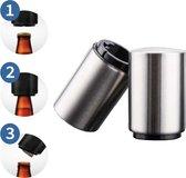 Flessenopener - Flesopener - Fles - Bier - Automatische fles opener - Opener - Bieropener - Luxe flesopener - Magnetische flesopener - Magnetisch - Dopopener - Schroefdopopener - Doppen verwijderen - Druksysteem -