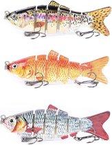 Kunstaas set 3 voor roofvis  - kunstaas snoek - pluggen met haak - kunstaas roofvis - hengelsport - set van 3 stuks