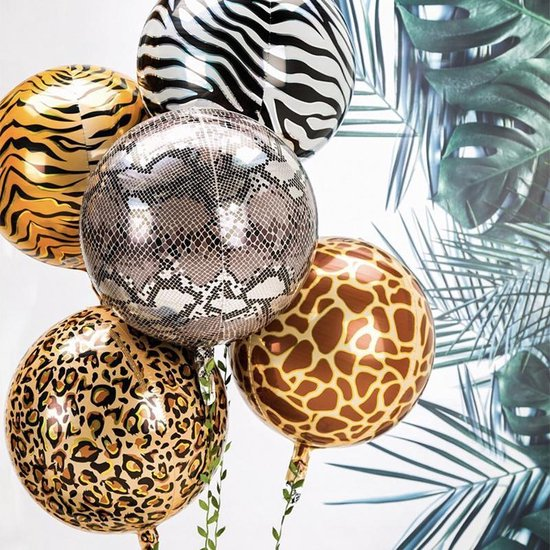 Bol Com Partizzle 5x Jungle Safari Thema Verjaardag Ballonnen Versiering Feest Decoratie