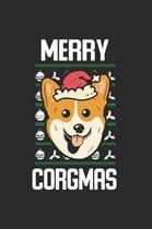 Merry Corgmas Christmas Notebook