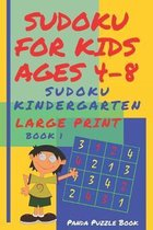 Sudoku For Kids Ages 4-8: Sudoku Kindergarten - Brain Games Large Print Sudoku - Book 1