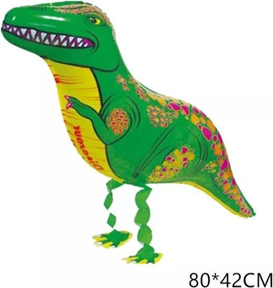 wandelende ballon airwalker dinosaurus