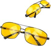 Nachtbril Autorijden - Geel - Bril Slecht Weer - Nachtzien Autorijden Bril - Noodweer Bril Rijden - Mistbril