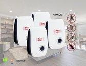 4-Pack Pest Reject Ultrasonische Ongedierte Bestrijding - Ultrasonisch Ongediertebestrijding - Ultrasone Bestrijder - Verjager voor Ratten / Muizen / Spinnen / Kakkerlakken / Muggen / Insecten - Muizenverjager - Rattenverjager - Pest Repeller