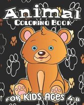Animal Coloring Book For Kids Ages 4-8: Fun Animal Coloring Book, Jungle Animals, Sea Creatures, Cute Pets And More