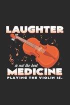 laughter medicine playing the violin: 6x9 Violin - dotgrid - dot grid paper - notebook - notes