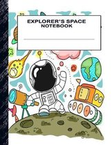 Explorer's Space Notebook: Boys' and Girls Fun Handwriting and Printing Practice Notebook for Grades K-2-3