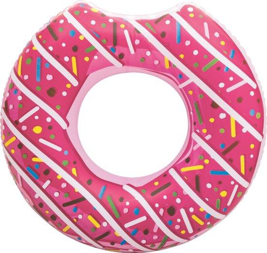 Opblaasbaar XXL Donut Zwemband 100 x 100 CM - Water Speelgoed Eten Roze - Voor kinderen of Volwassenen Groot