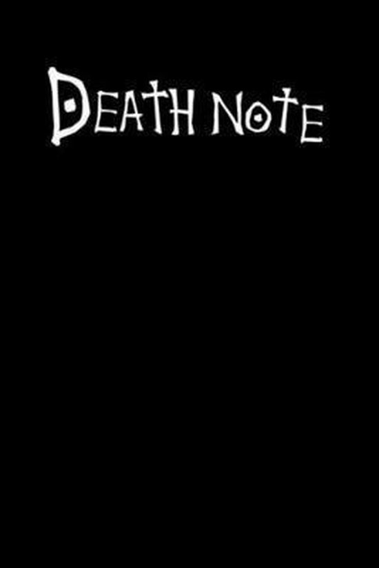 Death Note: 6x9 120 Page College Ruled Notebook