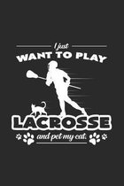 I want to play lacrosse: 6x9 Lacrosse - grid - squared paper - notebook - notes