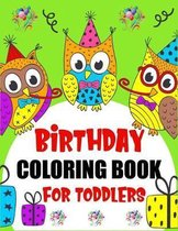 Birthday Coloring Book For Toddlers