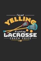 Lacrosse coach voice: 6x9 Lacrosse - grid - squared paper - notebook - notes