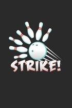 Strike: 6x9 Bowling - dotgrid - dot grid paper - notebook - notes