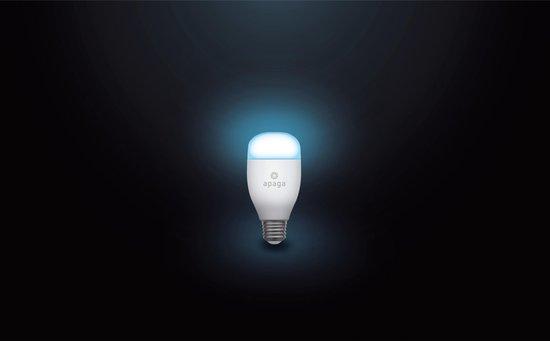 Apaga Smart RGB Lamp / Slimme LED lamp – Gekleurd licht (White + Color RGB) - Werkt met Google Home en Amazon Alexa - Warm tot koud LED lights – Dimbaar (LED verlichting, E27, 9W, WiFi)