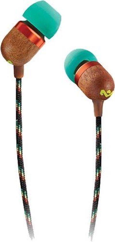 Afbeelding van House of Marley Smile Jamaica rasta oortjes - oordopjes met microfoon en 1knopsbediening