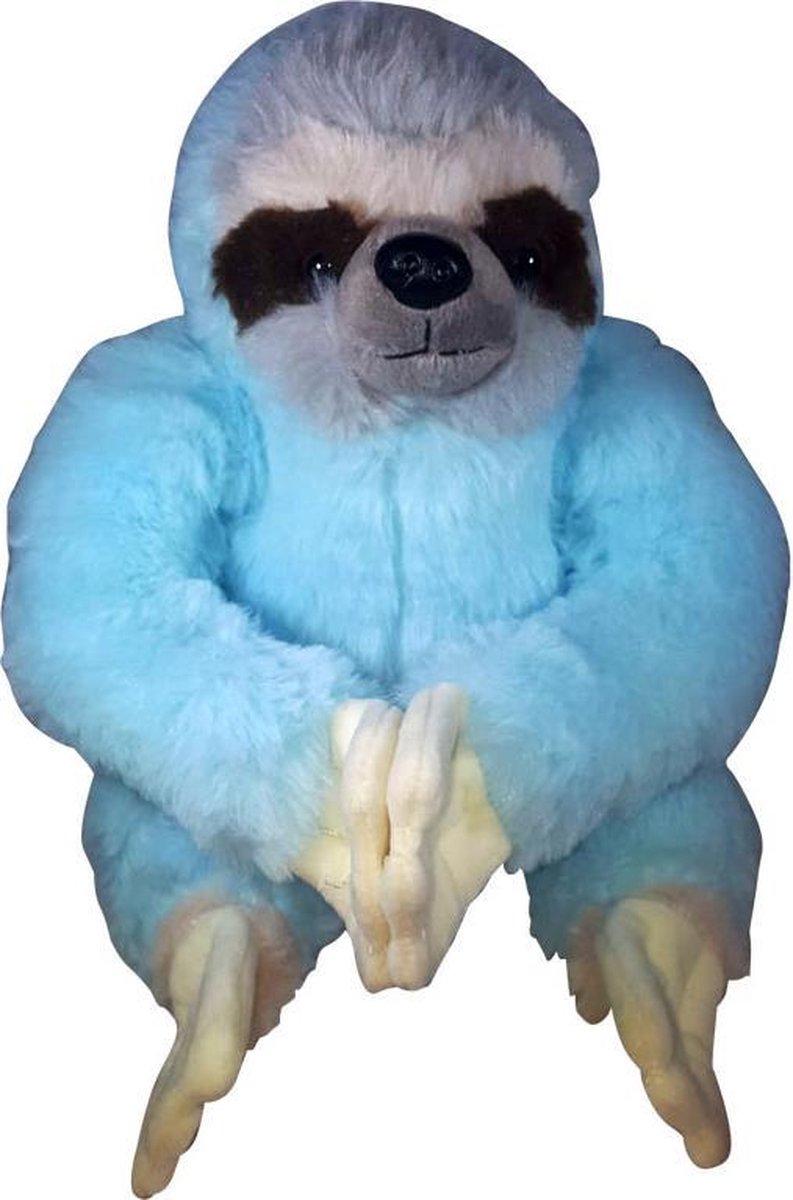 Pluche Knuffel Luiaard Blauw 30cm